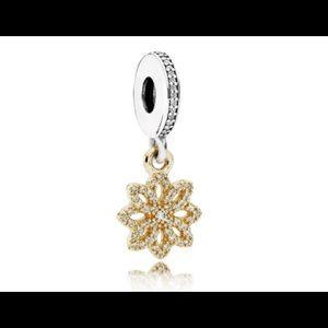 Pandora 14K Gold & sterling Silver  Dangle Charm